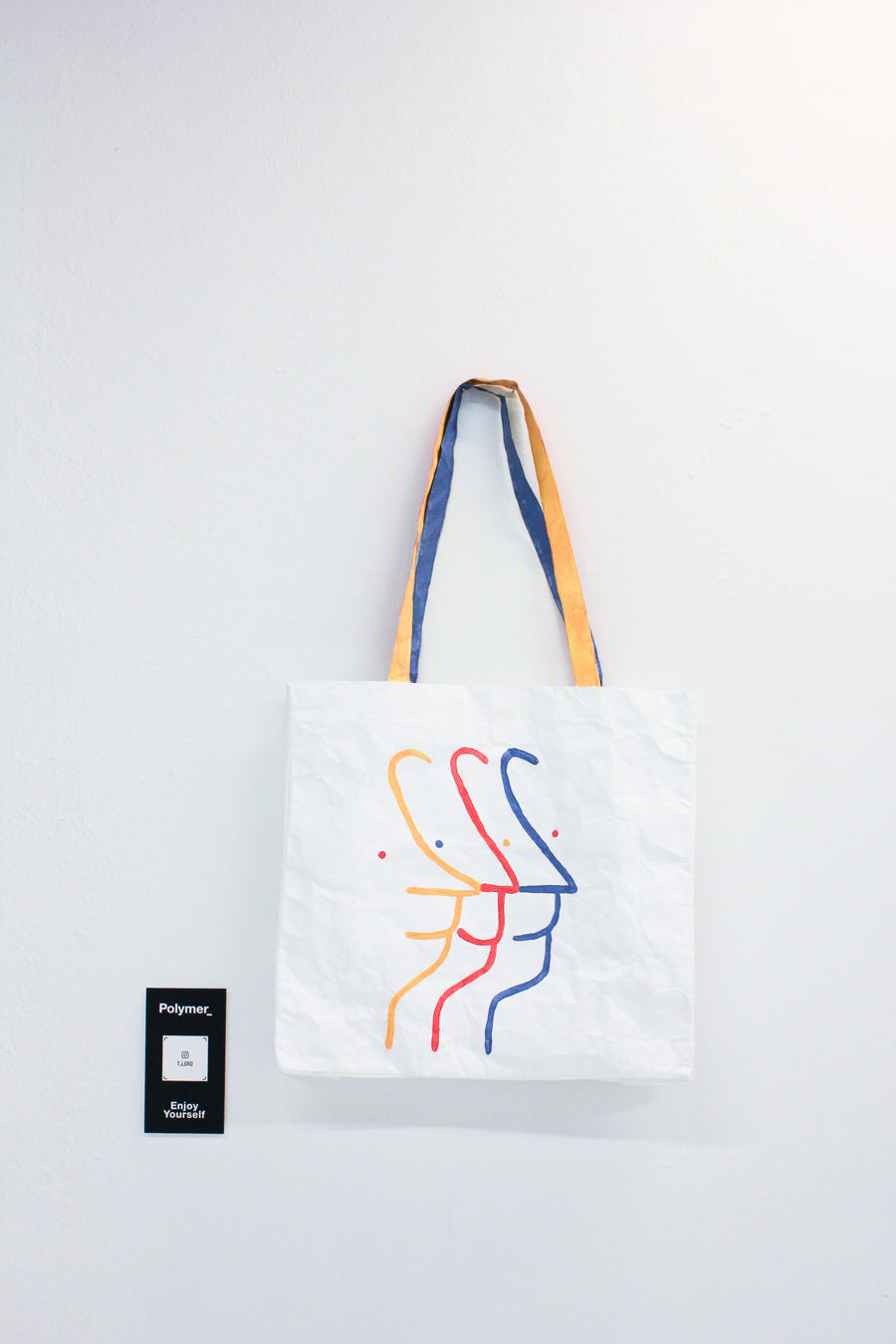 Polymer_ Enjoy Yourself Art Tote by Taylor Mousaw