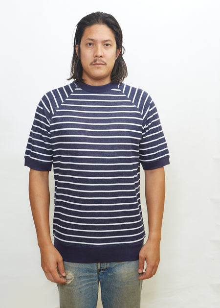 Word Mark Crew Navy
