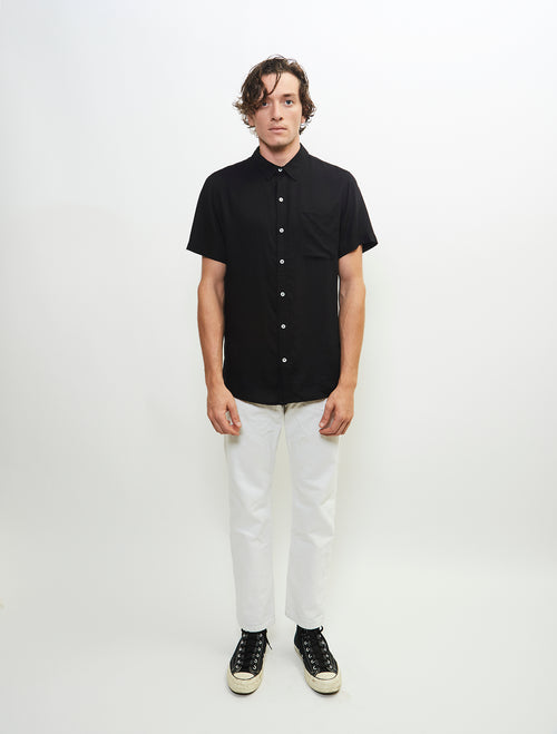 essential-short-sleeve-viscose-woven-button-up-shirt-black