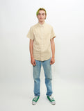obtuse-short-sleeve-cotton-stripe-voile-woven-button-up-shirt-mustard
