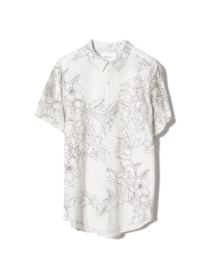 short-sleeve-unisex-button-up-printed-shirt-cotton-guaze-regular-fit