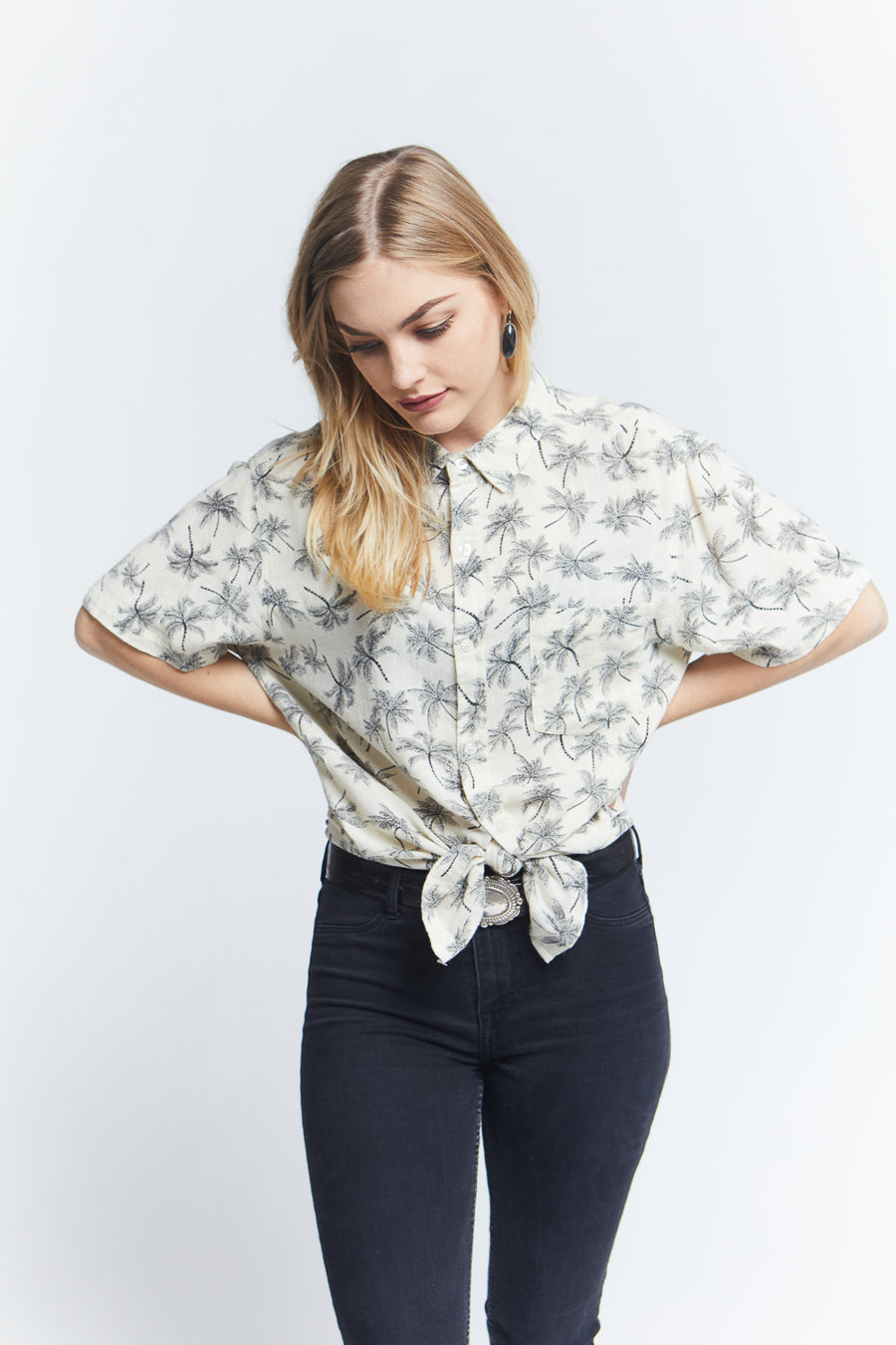 unisex-short-sleeve-printed-button-up-shirt-cotton-regular-fit-white