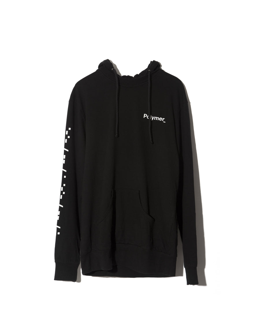 Word Mark Hoodie Black