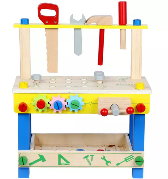Montessori Kids Wooden Work Bench Amp Tools Harlow And Beau