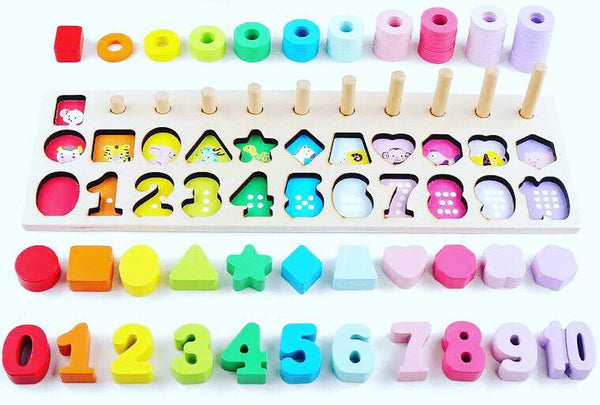 Montessori Wooden Animals Learning Boards Harlow And Beau