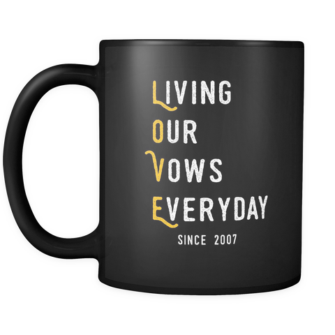 Wedding Anniversary gift, gift for her/him (mug)