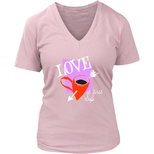Gifts for Her, Women Coffee Lovers V-neck
