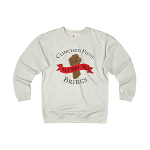 CLINCHED FISTS,...(Unisex) Heavyweight Long Sleeve Fleece Crew