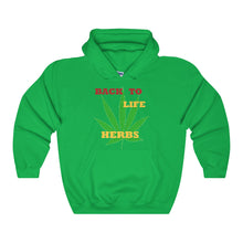 BACK TO LIFE,...Unisex Heavy Hoodie(multiple colors)