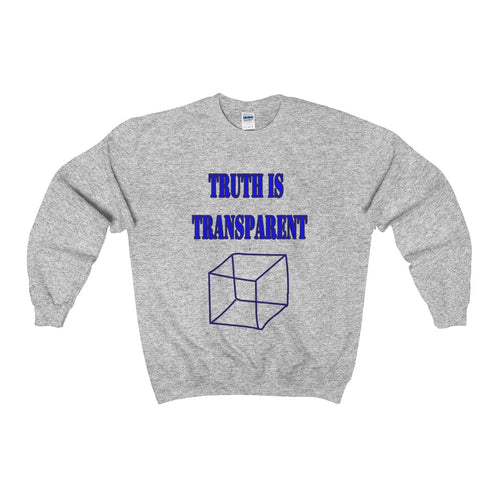 TRUTH IS TRANSPARENT,  Heavy Blend™ Adult Crewneck Sweatshirt