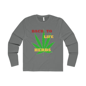 BACK TO LIFE,...Slim Fit Long Sleeve Tee