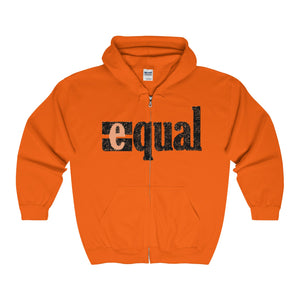 EQUAL, Unisex Full Zip Hooded Sweatshirt