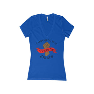 CLINCHED FISTS,... Women's V-Neck Tee