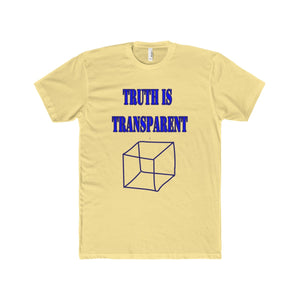 TRUTH IS TRANSPARENT,  Men's Premium Fit Crew T-Shirt