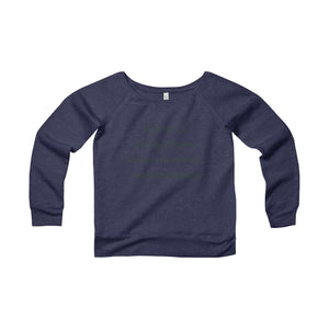WOMAN...IRREPLACEABLE, Women's Off Shoulder (Wide Neck) Sweatshirt