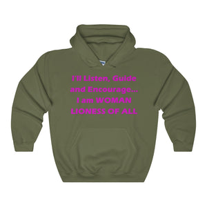 WOMAN,...Unisex Heavy Hoodie(multiple colors)