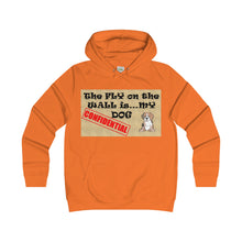 CONFIDENTIAL DOG,...Girlie Fit Hoodie(multiple colors)