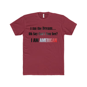 I AM THE DREAM...I AM AMERICAN, Men's Premium Fit Crew T-Shirt