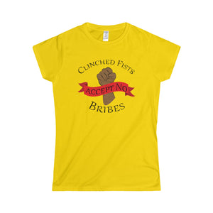 CLINCHED FISTS,...Women's Tee(multiple colors)