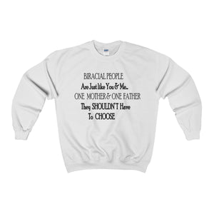 BIRACIAL PEOPLE,...Heavy Blend™ Adult Crewneck Sweatshirt