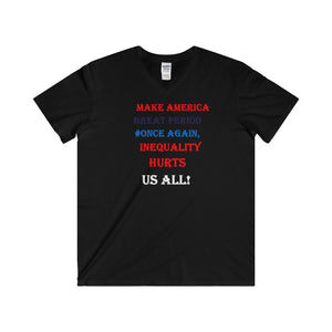 MAKE AMERICA GREAT,...Softstyle® Adult V-Neck T-Shirt