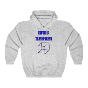 TRUTH IS TRANSPARENT, Unisex Heavy Blend Hooded Sweatshirt