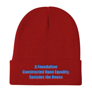 A FOUNDATION...,  Knit Beanie