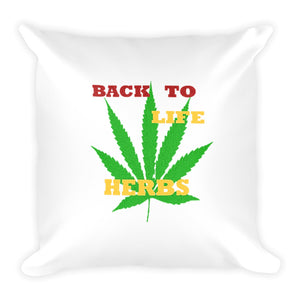 BACK TO LIFE HERBS, Square Pillow