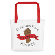CLINCHED FISTS...,Tote bag