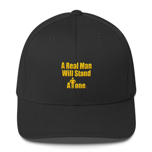 A REAL MAN..., (hands on waist), Structured Twill Cap
