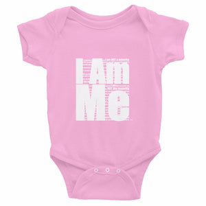 I AM ME..., (white letters), Infant Bodysuit
