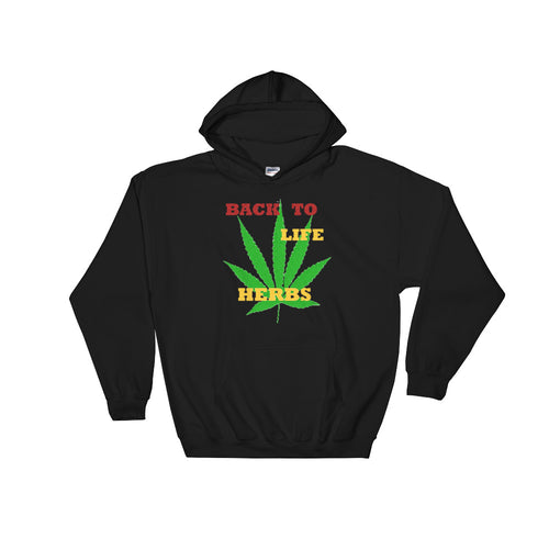 BACK TO LIFE HERBS, Hooded Sweatshirt