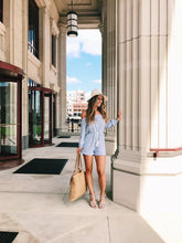 Baby Blues Striped Romper