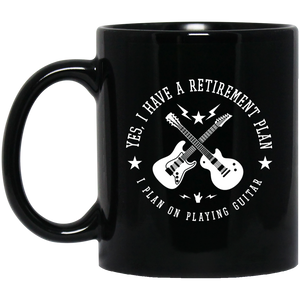 Retirement Plan 11 oz. Black Mug
