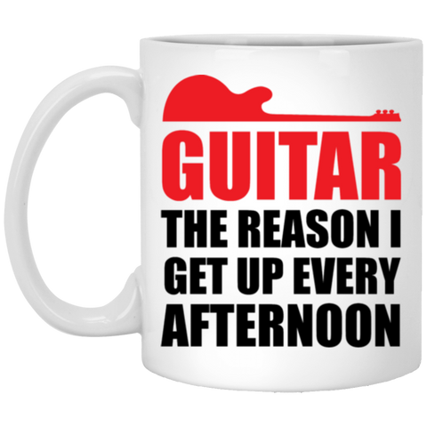 Guitar Afternoon 11 oz. White Mug