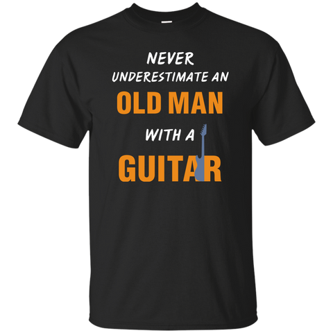 Old Man with Guitar T-Shirt