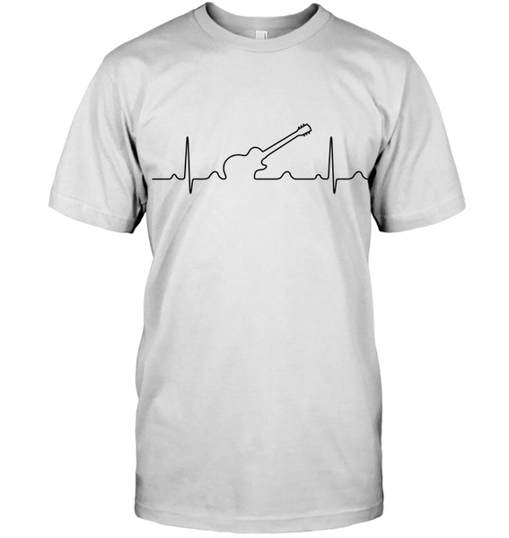 Heartbeat Electric Guitar White T-Shirt