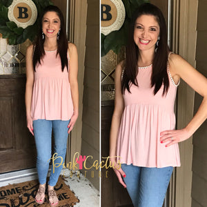 Blush Sleeveless Top