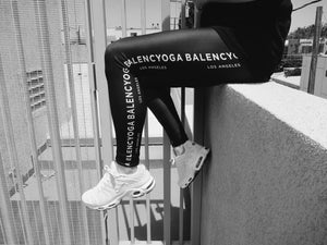BLACK BALENCYOGA LEGGINGS