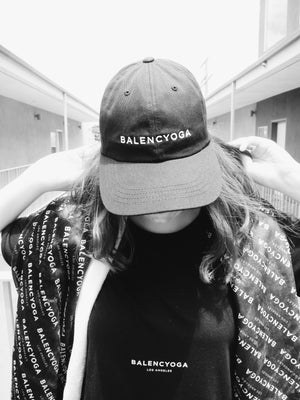 BLACK BALENCYOGA DAD CAP