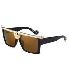 Designer Fashion Sunglasses Men / Women Medusa Gold 3D Designer Sun Glasses