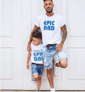 New matching outfits letter father and son clothes cotton family look T- shirt  1 2