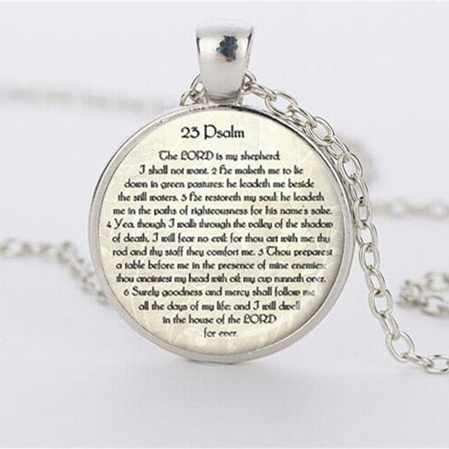 Psalm 23 Bible Scripture Pendant