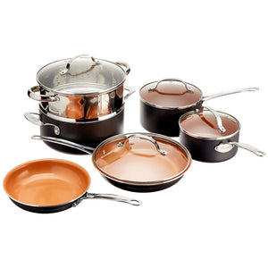 Gotham Steel Ceramic and Titanium Nonstick 10-Piece Set