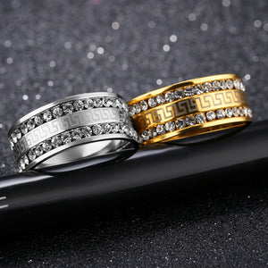 High quality Gold / Platinum color Stainless steel Luxury AAA CZ 2017 fashion brand.
