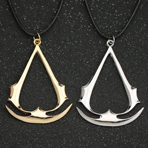 Necklace Game Altair Ezio Connor Desmond Silver Gold Anchor Pendant Leather Rope Jewelry