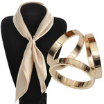 Silk Scarf Jewelry Buckle Shawl Ring Clip Tricyclic Scarves Buckle Luxurious