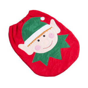 Toilet Seat Bathroom Cover Elf Christmas Decoration