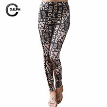 Women Leggings Print High Waist Elastic Leggings Casual  Pants