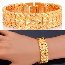 Men / Women Jewelry Trendy Bracelet Heart shape Gold/Silver Color 20 CM Bracelets